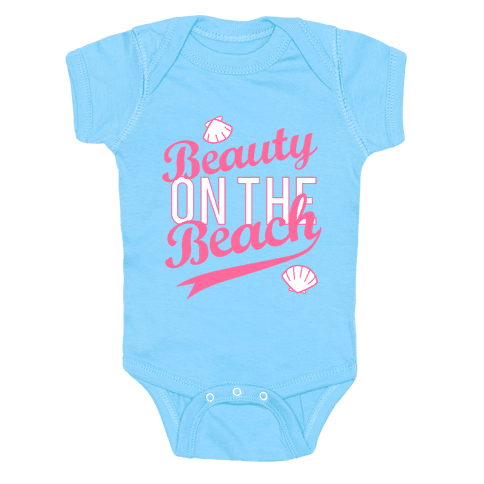 Beauty On The Beach (Baseball Tee) Baby Onesy