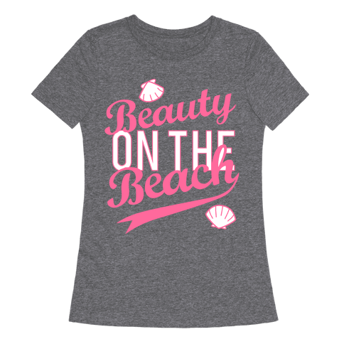 Beauty On The Beach (Baseball Tee) Womens T-Shirt