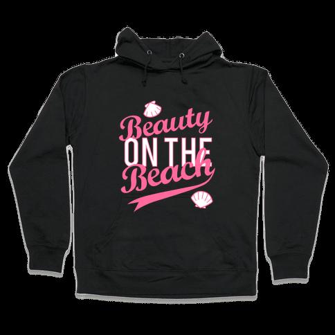 Beauty On The Beach (Baseball Tee) Hooded Sweatshirt