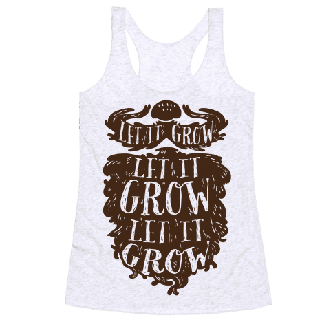 Let It Grow Racerback Tank Top