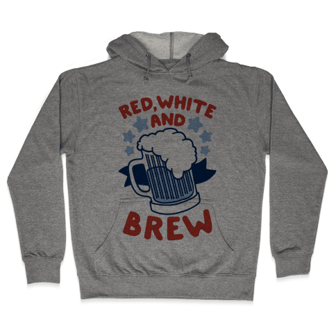 Red, White and Brew Hooded Sweatshirt