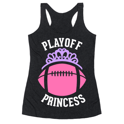 Playoff Princess (Football) Racerback Tank Top