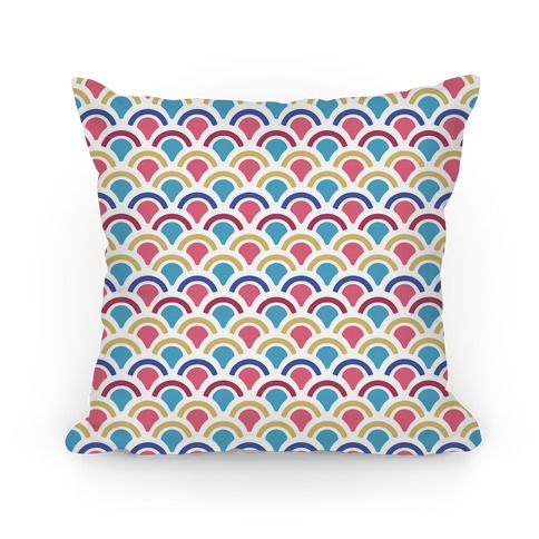Mermaid Scales Pattern Pillow