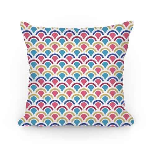 Mermaid Scales Pattern Pillow