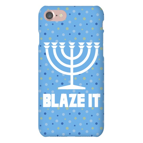 Blaze It Menorah Phone Case