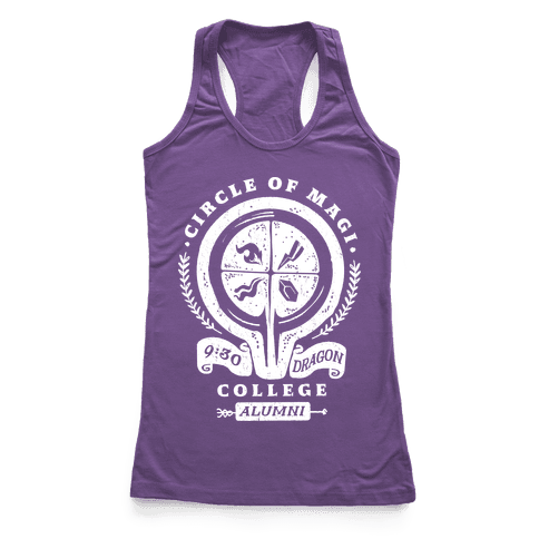College of Magi Alumni Racerback Tank Top