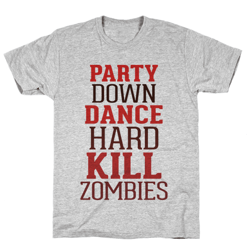 Party, Dance, Kill Zombies Mens T-Shirt