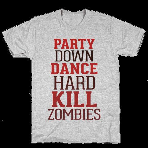 Party, Dance, Kill Zombies Mens T-Shirt