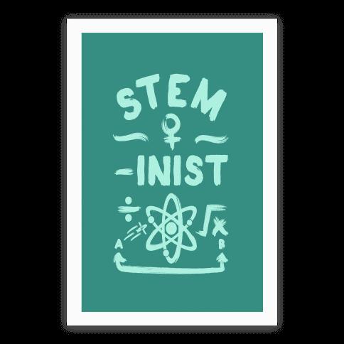 STEM-ininst (STEM Field Feminist) Poster