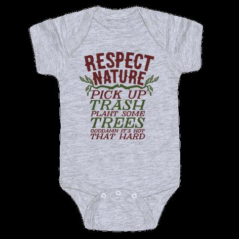 Respect Nature Baby Onesy