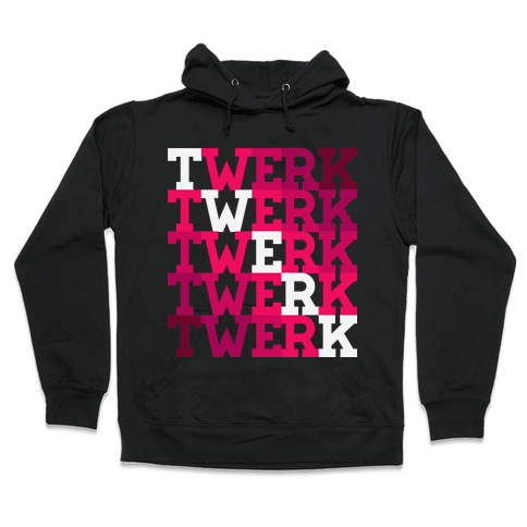 Twerk Square Hooded Sweatshirt