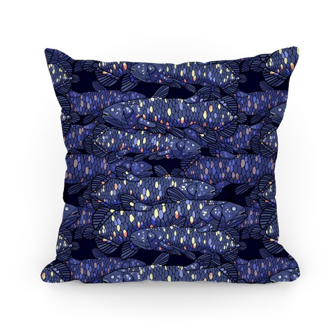 Nautical Coelacanth Fish Pattern Pillow