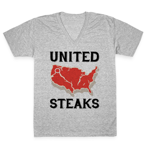 United Steaks V-Neck Tee Shirt