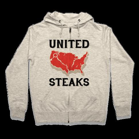 United Steaks Zip Hoodie