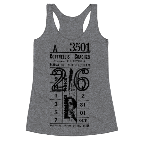 Vintage Punch Ticket Racerback Tank Top