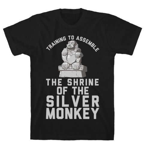Training To Assemble The Shrine Of The Silver Monkey Mens T-Shirt