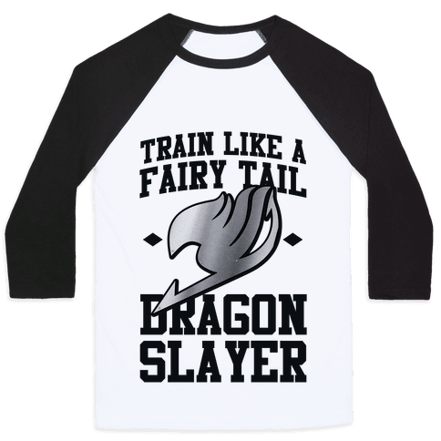 Train Like a Fairy Tail Dragon Slayer (Gajeel) Baseball Tee