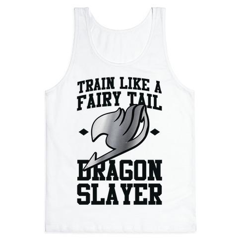 Train Like a Fairy Tail Dragon Slayer (Gajeel) Tank Top