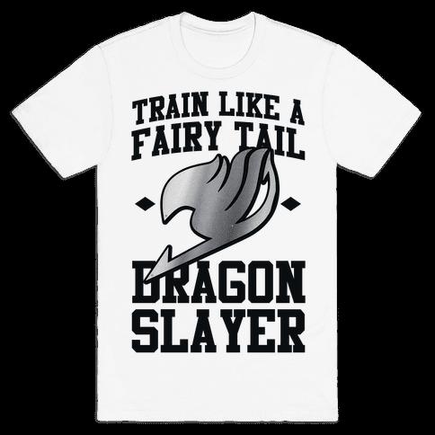Train Like a Fairy Tail Dragon Slayer (Gajeel) Mens T-Shirt