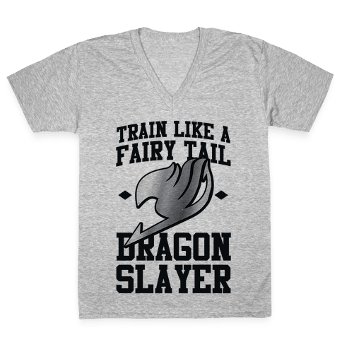 Train Like a Fairy Tail Dragon Slayer (Gajeel) V-Neck Tee Shirt
