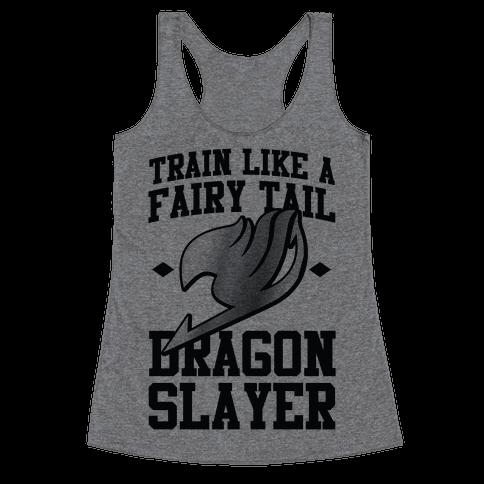 Train Like a Fairy Tail Dragon Slayer (Gajeel) Racerback Tank Top