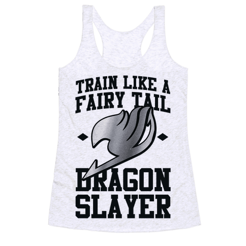 Train Like a Fairy Tail Dragon Slayer (Gajeel) Racerback Tank Top