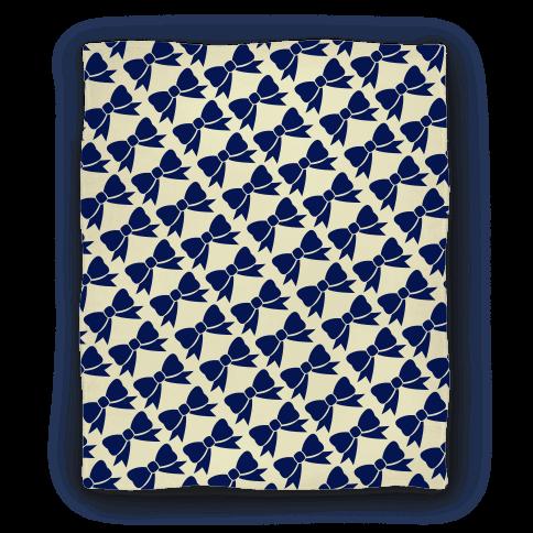 Blue Bow Pattern Blanket
