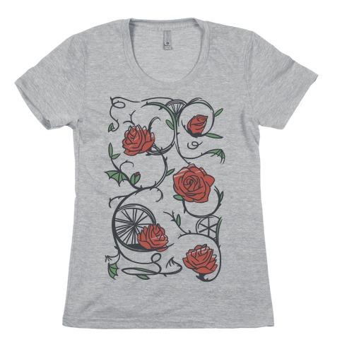 Sleeping Beauty Briar Rose Floral Pattern Womens T-Shirt