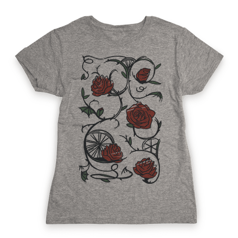 Sleeping Beauty Briar Rose Floral Pattern Womens T-Shirt