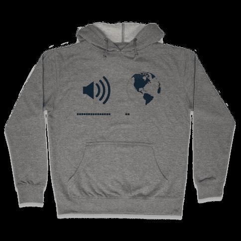 Music Up, World Down Hooded Sweatshirt