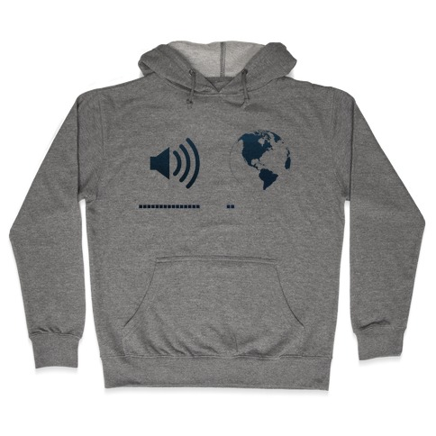 Music Up, World Down Hooded Sweatshirt