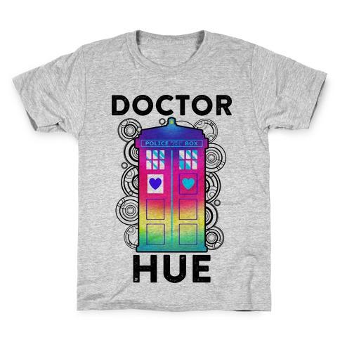 Doctor Hue (Doctor Who Parody) Kids T-Shirt