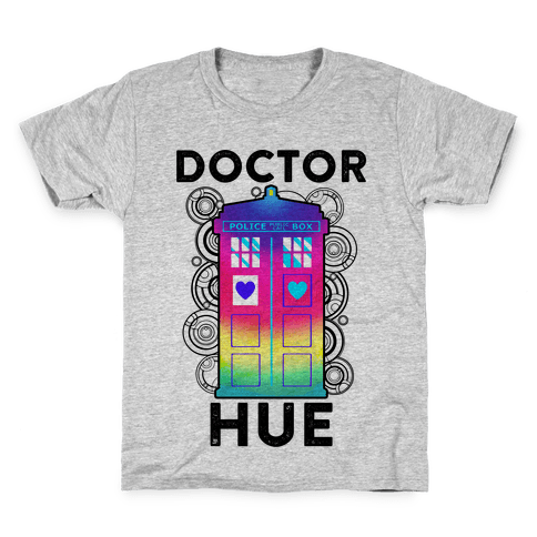 Doctor Hue (Doctor Who Parody) Kids T-Shirt