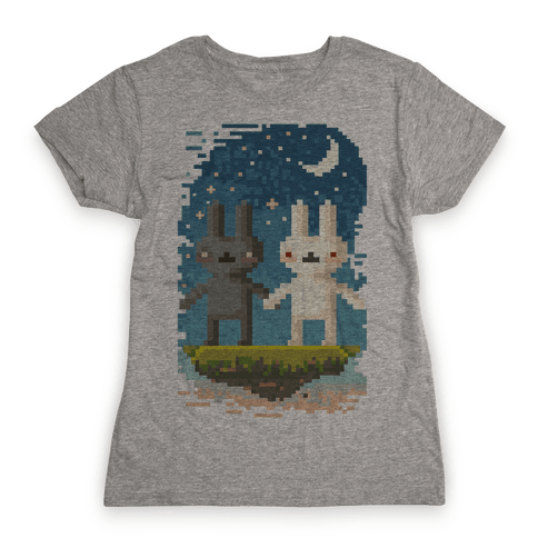 Bunnies in Moonlight Womens T-Shirt
