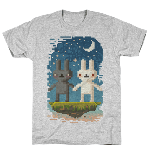 Bunnies in Moonlight Mens T-Shirt