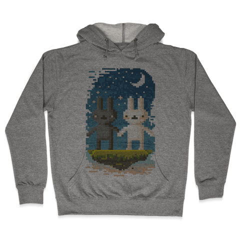 Bunnies in Moonlight Hooded Sweatshirt