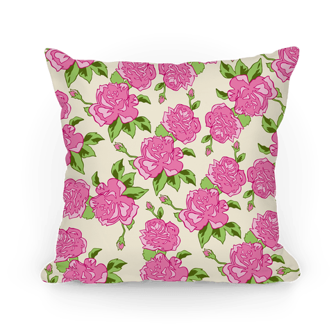 Floral Hipster Pattern Pillow