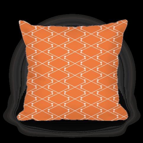 Citrus Orange Hipster Bow Arrow Crisscross Pattern