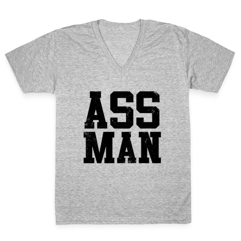 Ass Man V-Neck Tee Shirt