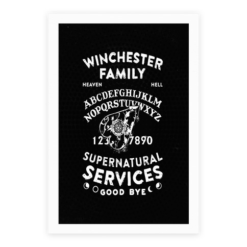 Winchester Family Ouija Board Poster