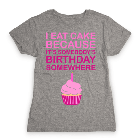 Birthday Cake Womens T-Shirt