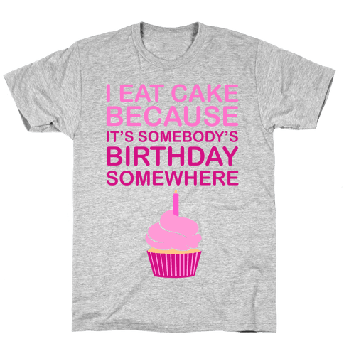 Birthday Cake Mens T-Shirt