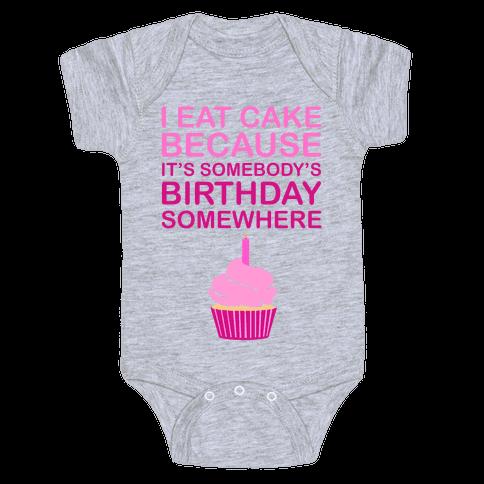 Birthday Cake Baby Onesy