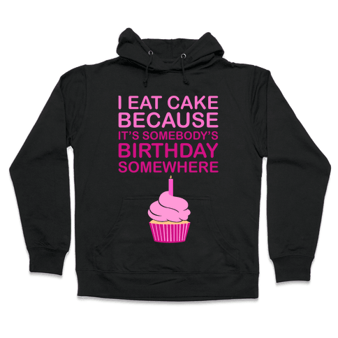 Birthday Cake Hooded Sweatshirt