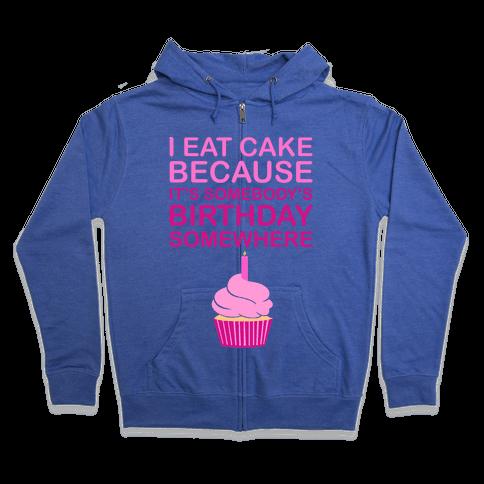 Birthday Cake Zip Hoodie