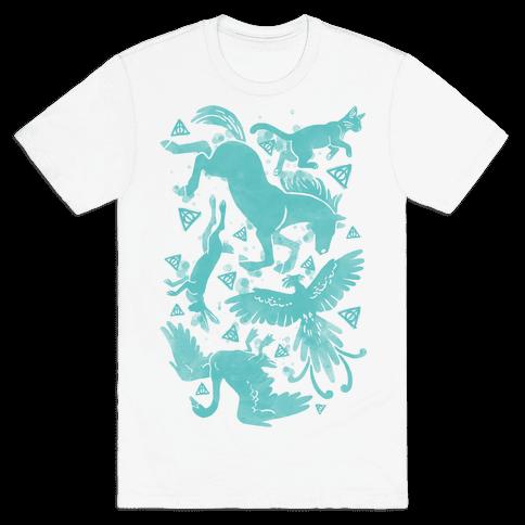 Hogwarts Patronus Pattern Mens T-Shirt