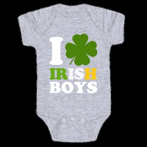 I Love Irish Boys Baby Onesy