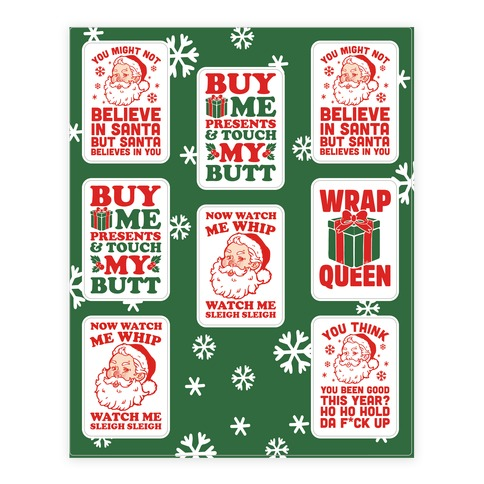 Trendy Christmas Sticker and Decal Sheet