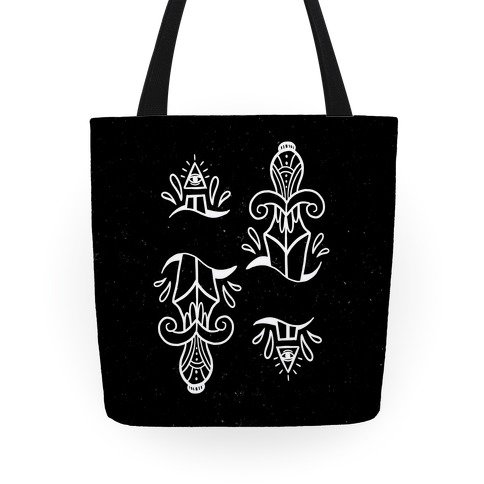 Illuminati Tattoo Daggers Tote