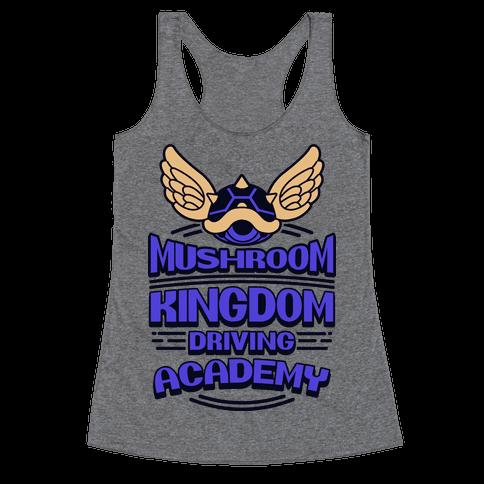 Mushroom Kingdom Driving Academy Racerback Tank Top